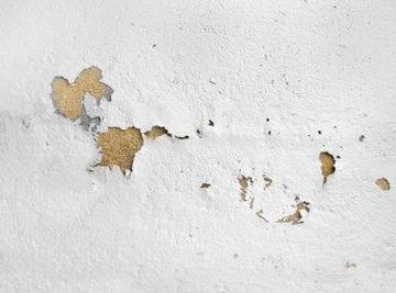 effetti della condensa su un muro bianco