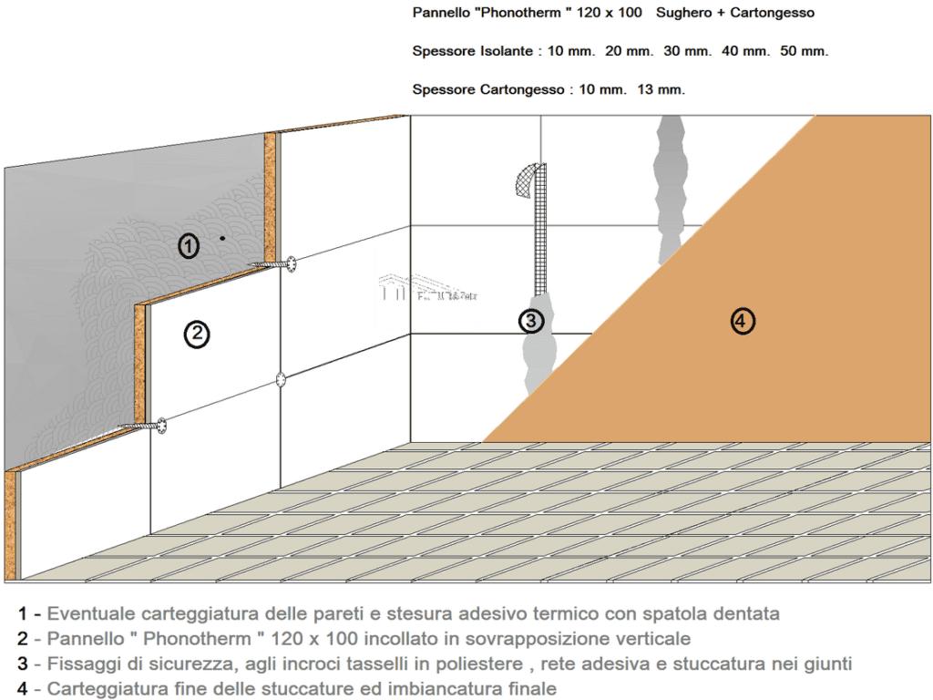 Pannello termico acustico mq 1 20 sughero standard 50 mm - Sughero isolante termico interno ...