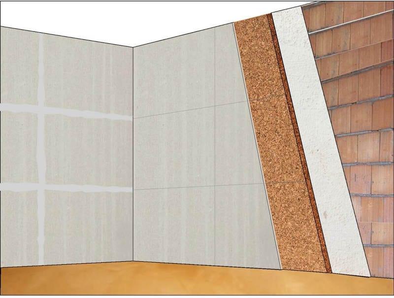 Composizione delle pareti in 3d con rendering