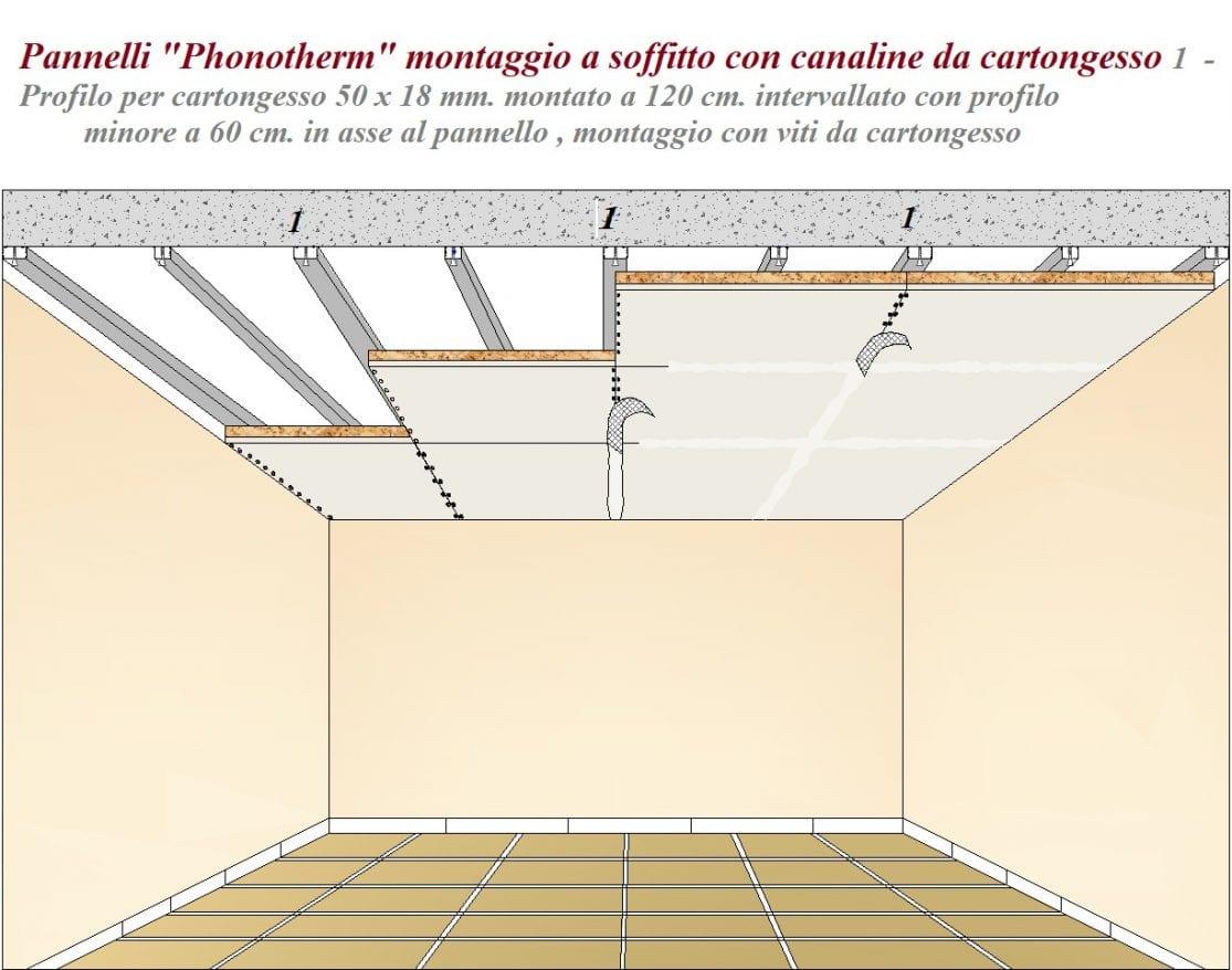 Pannello termico acustico mq. 1,20 Sughero standard 50 mm. + ...
