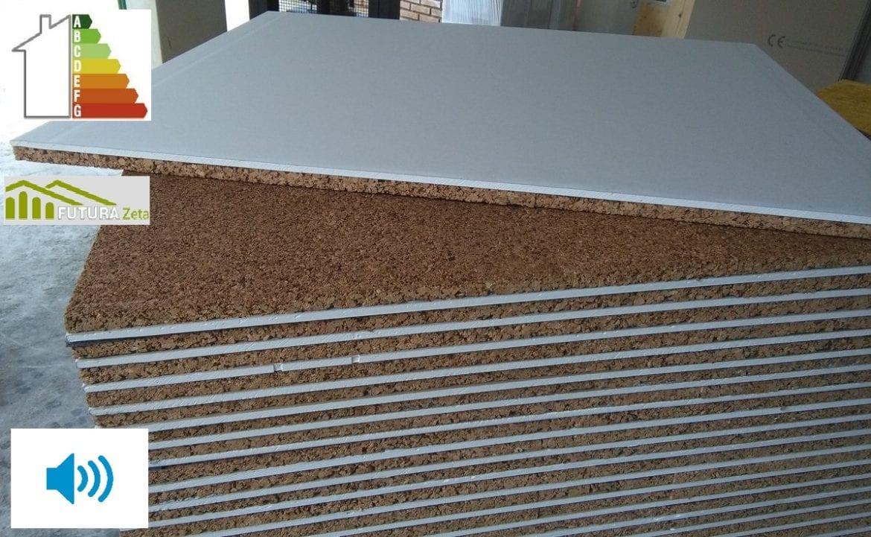 Pannello accoppiato sughero standard 40 mm cartongesso - Isolamento acustico interno ...