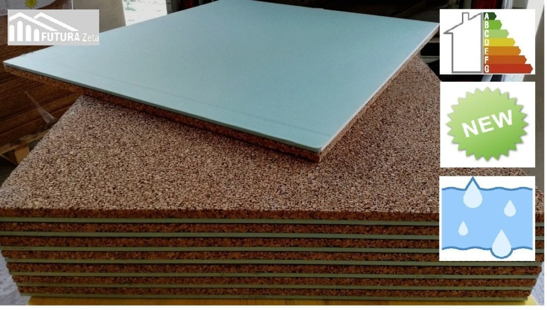 Pannello hydro preaccoppiato sughero superiore 40 mm - Rivestimento termico interno ...