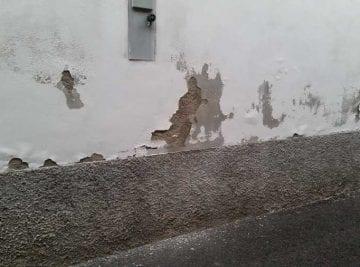 umidità di risalita su un muro