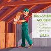 isolamento acustico delle pareti, del soffitto e del pavimento