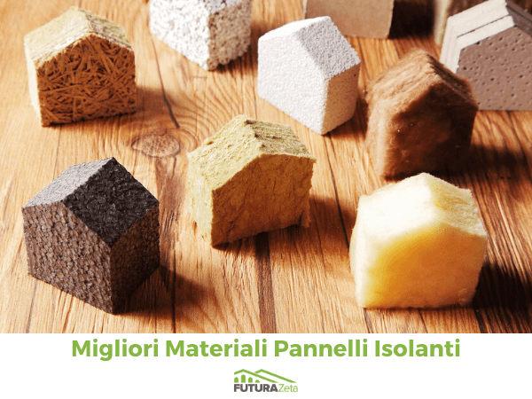 pannelli isolanti i migliori materiali come sughero, lana di roccia, e polisirolo