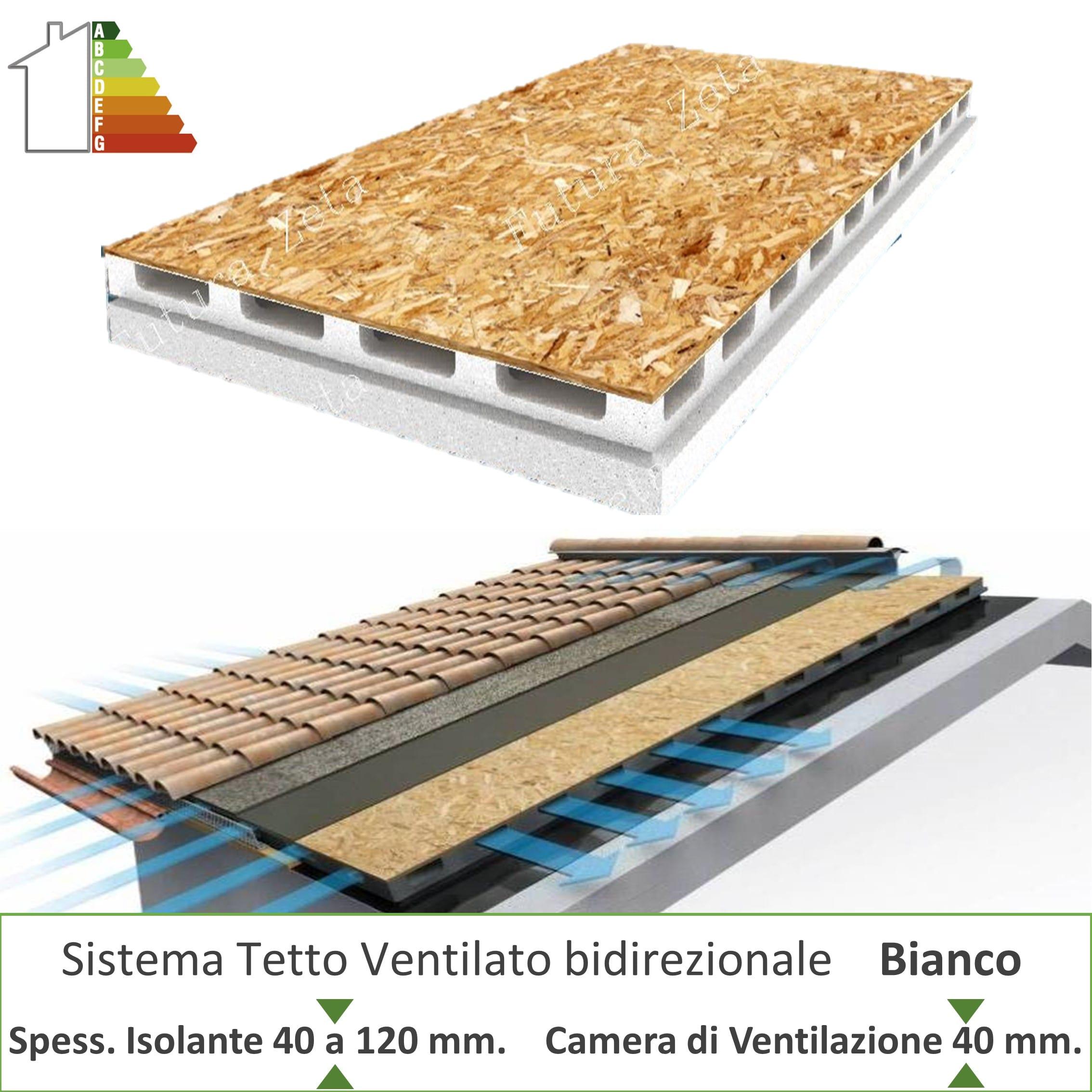Pannelli Di Legno Osb pannello bianco sistema tetto ventilato