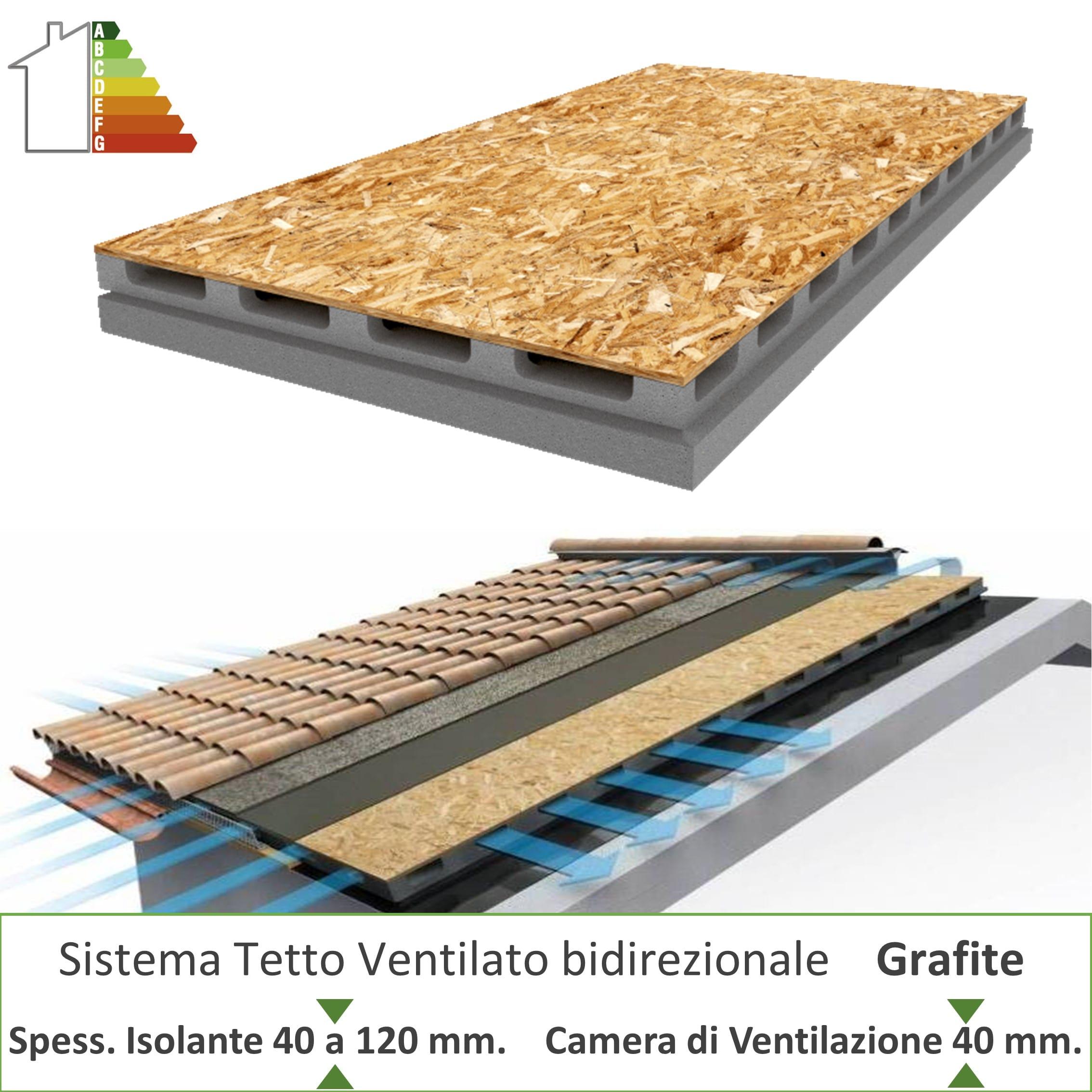 Pannelli Di Legno Osb pannello sistema tetto ventilato grafite